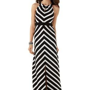 White House Black Market Mitered Stripe Maxi Dress